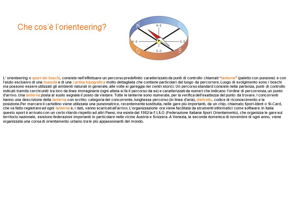 Che cos'è l'orienteering