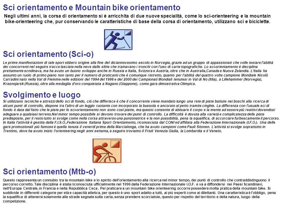 Sci orientamento e Mountain bike orientamento