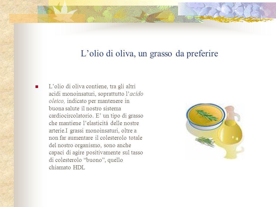 L'olio di oliva, un grasso da preferire