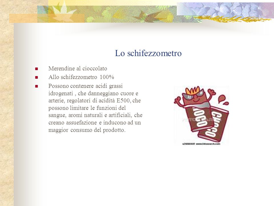 Lo schifezzometro Merendine al cioccolato Allo schifezzometro 100%