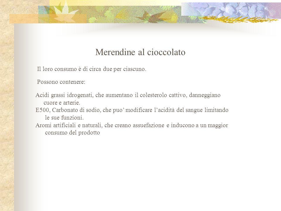 Merendine al cioccolato