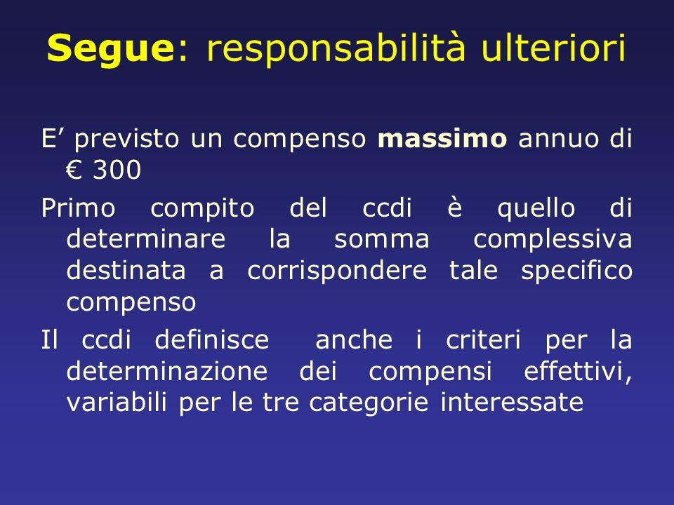 Segue: responsabilità ulteriori