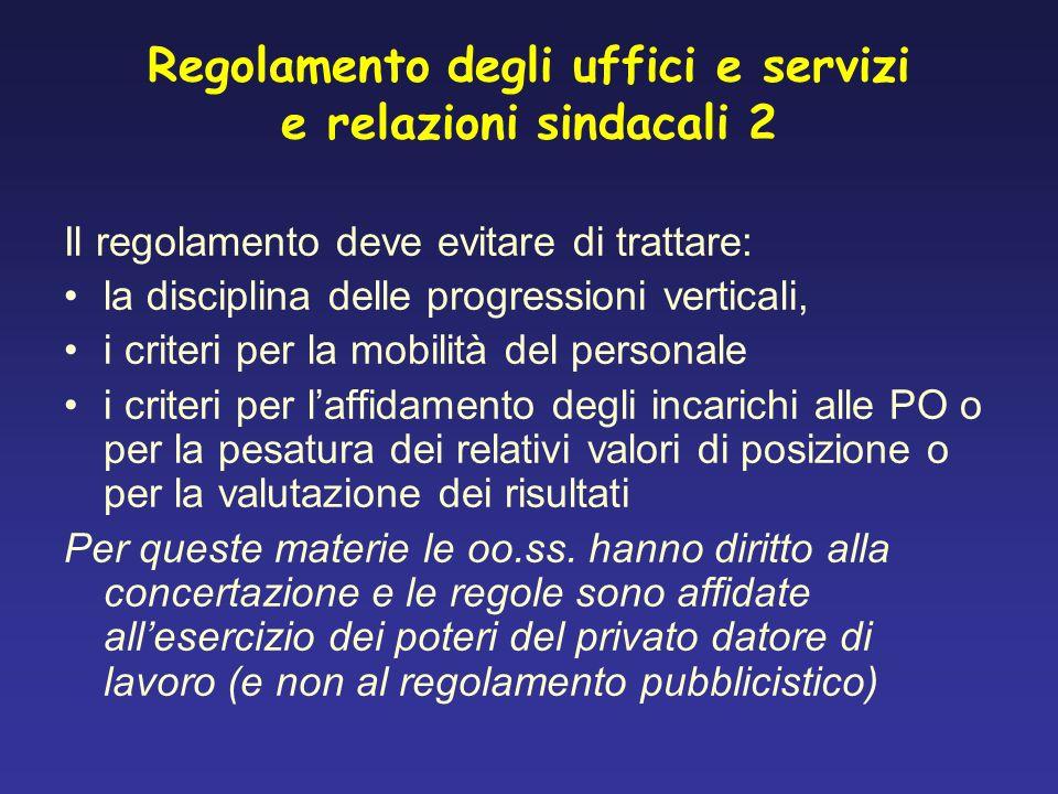 Regolamento degli uffici e servizi e relazioni sindacali 2
