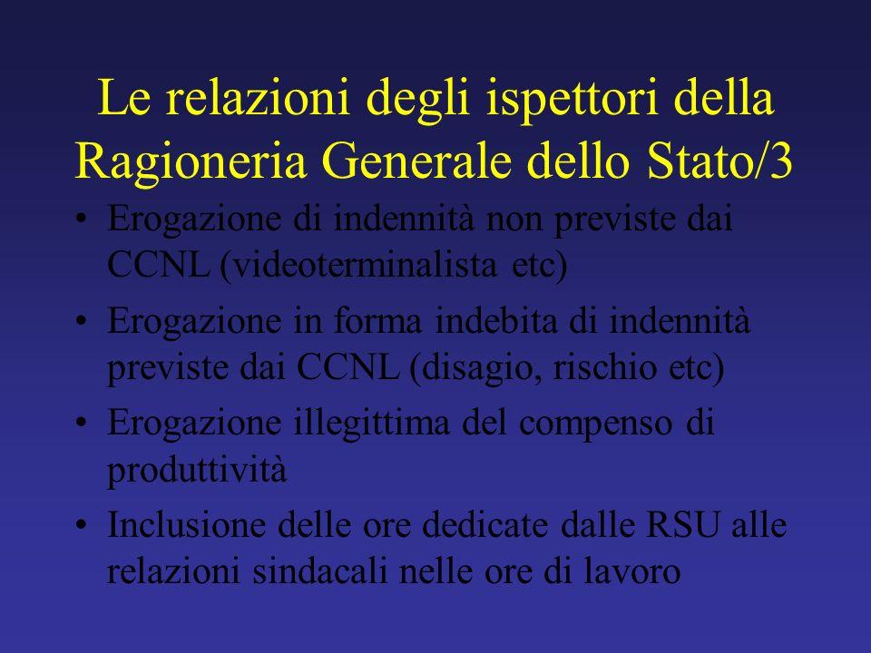 Le relazioni degli ispettori della Ragioneria Generale dello Stato/3