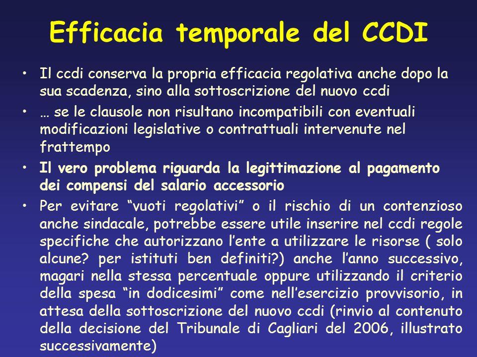 Efficacia temporale del CCDI