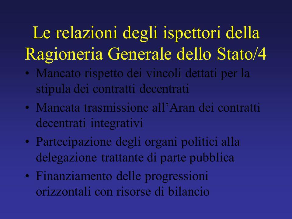 Le relazioni degli ispettori della Ragioneria Generale dello Stato/4