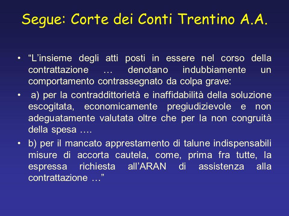 Segue: Corte dei Conti Trentino A.A.