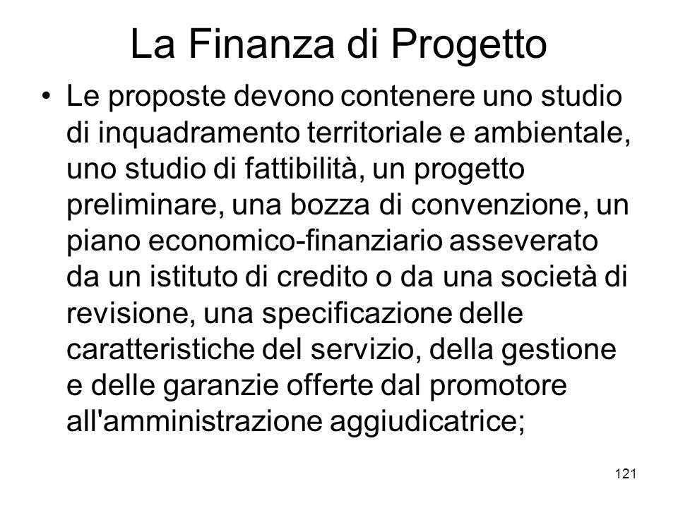 La Finanza di Progetto