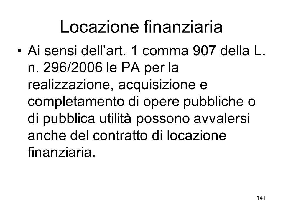 Locazione finanziaria