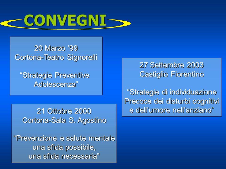 CONVEGNI 20 Marzo '99 Cortona-Teatro Signorelli Strategie Preventive