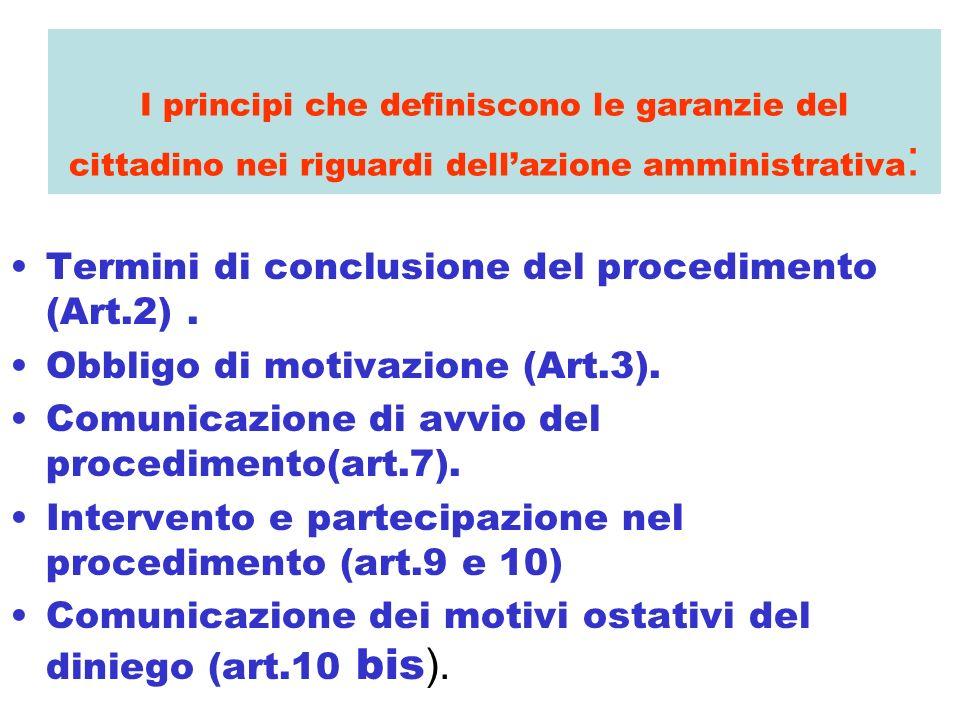Termini di conclusione del procedimento (Art.2) .