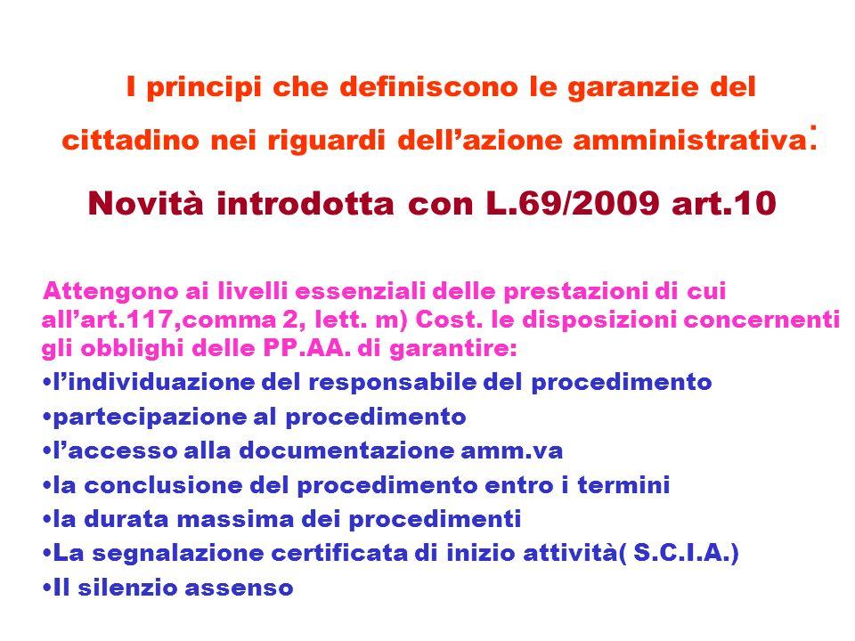 Novità introdotta con L.69/2009 art.10