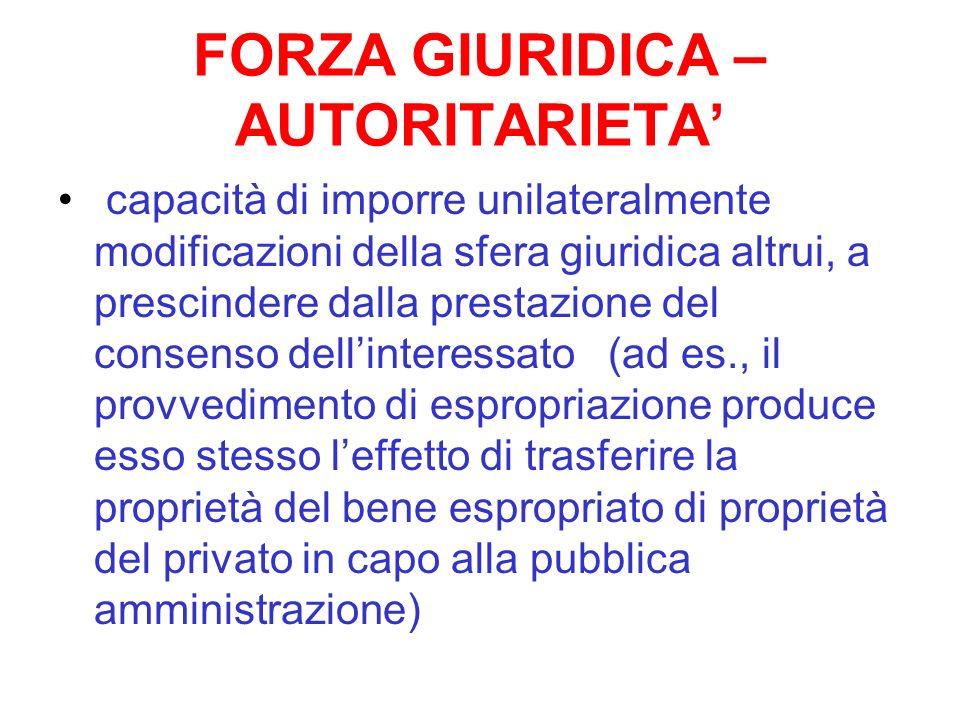 FORZA GIURIDICA – AUTORITARIETA'