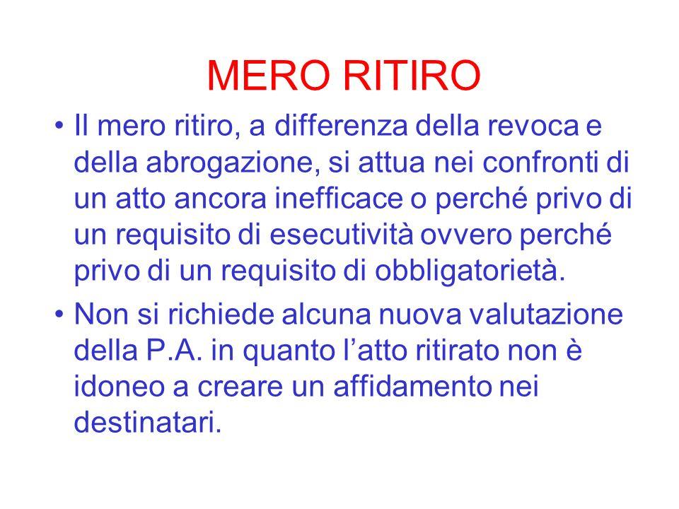 MERO RITIRO