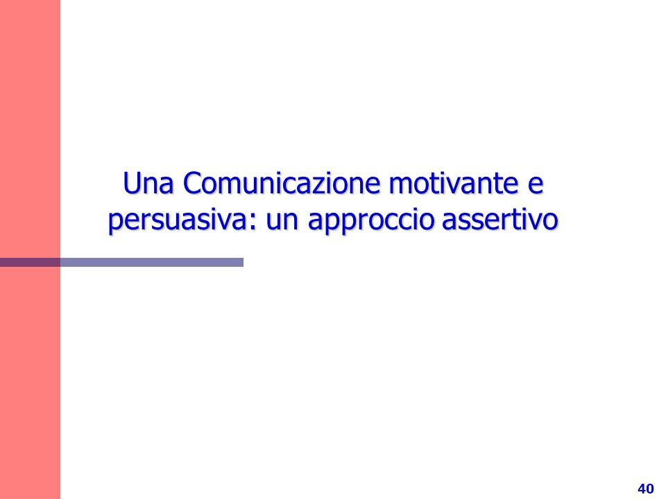 Una Comunicazione motivante e persuasiva: un approccio assertivo