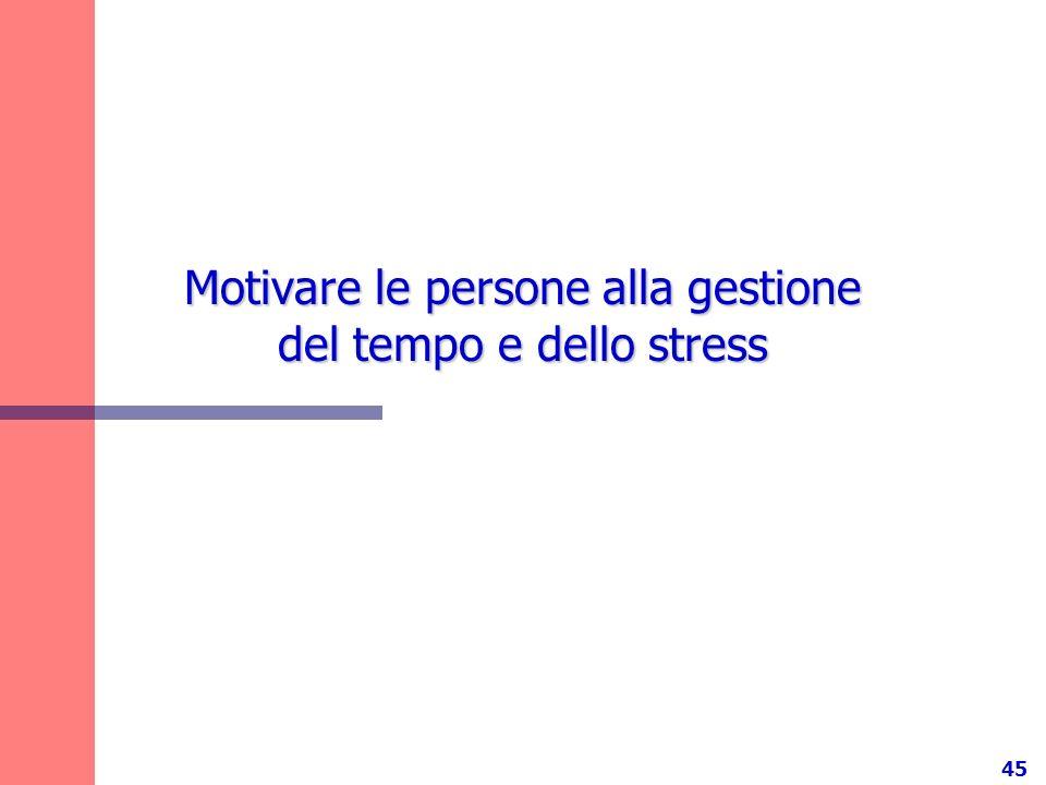 Motivare le persone alla gestione del tempo e dello stress