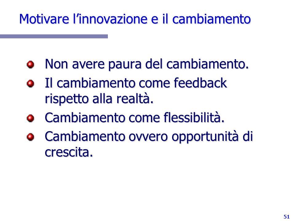 Motivare l'innovazione e il cambiamento