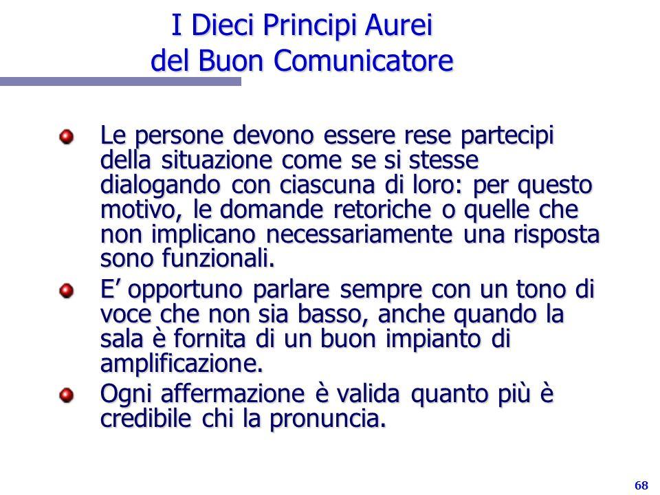 I Dieci Principi Aurei del Buon Comunicatore