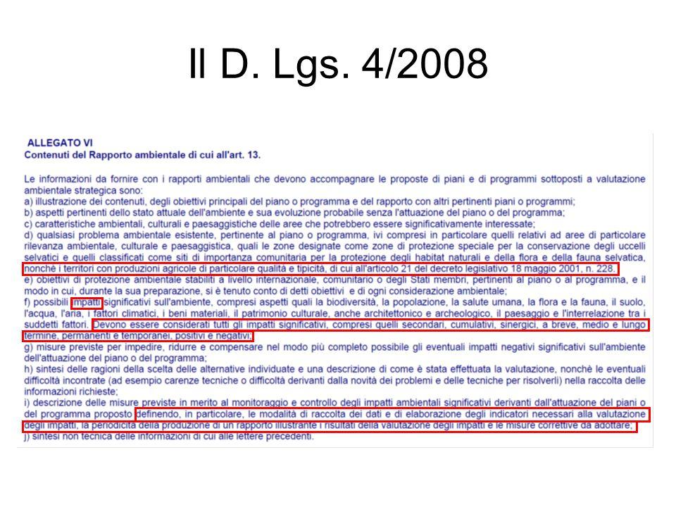 Il D. Lgs. 4/2008
