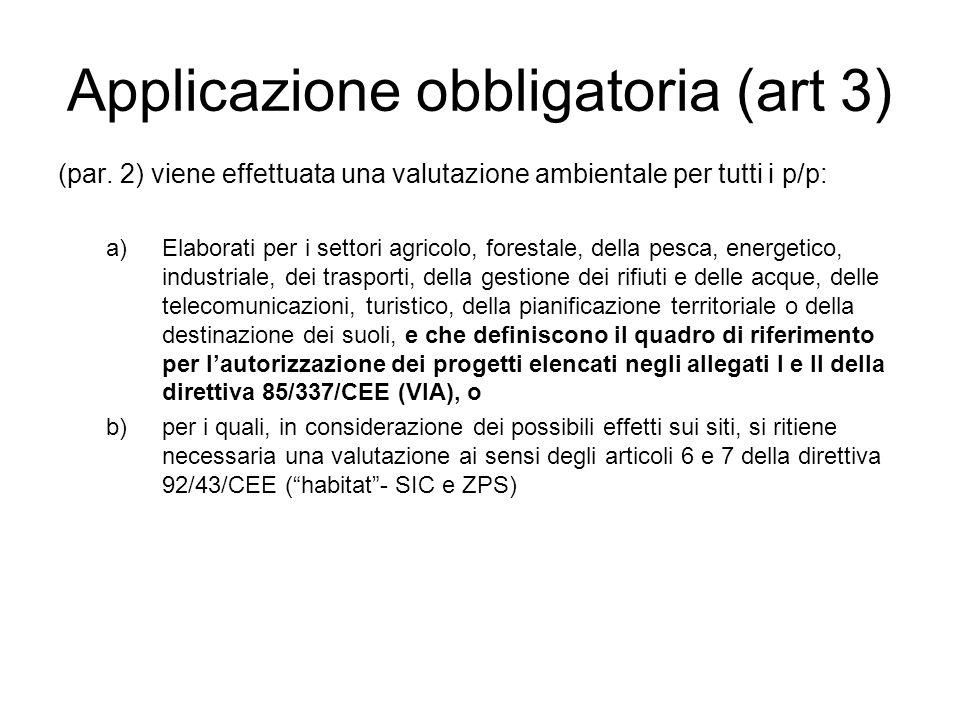 Applicazione obbligatoria (art 3)