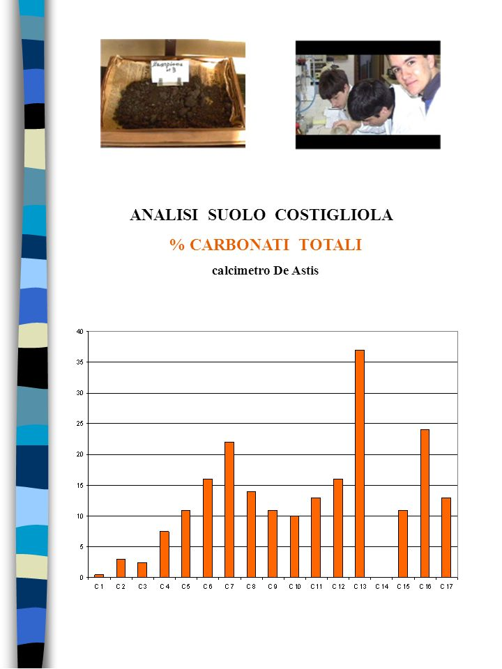 ANALISI SUOLO COSTIGLIOLA % CARBONATI TOTALI