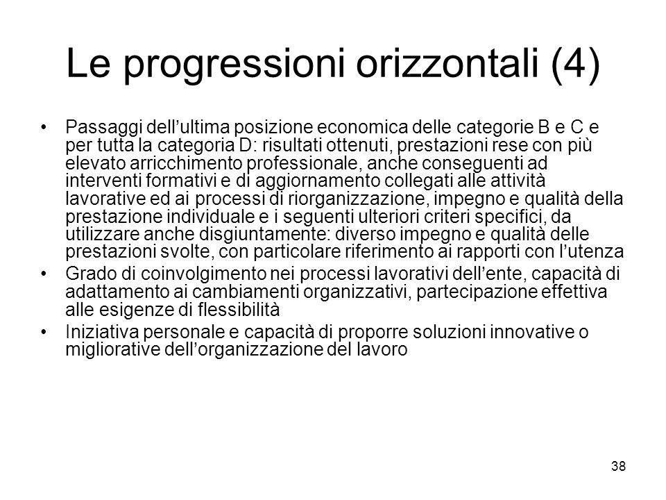Le progressioni orizzontali (4)