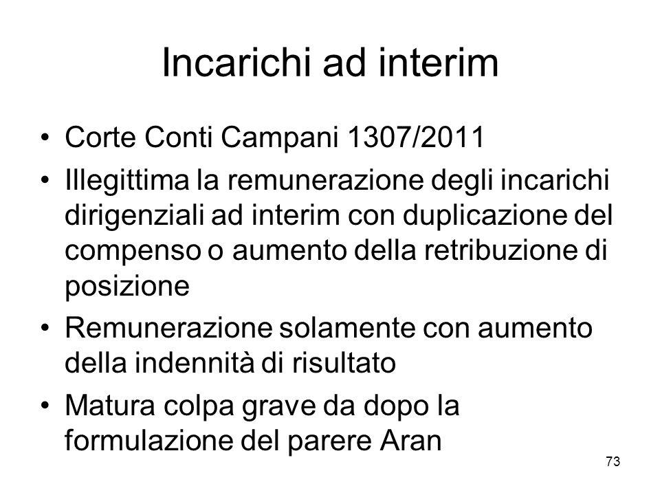 Incarichi ad interim Corte Conti Campani 1307/2011