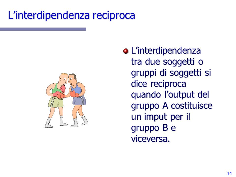 L'interdipendenza reciproca