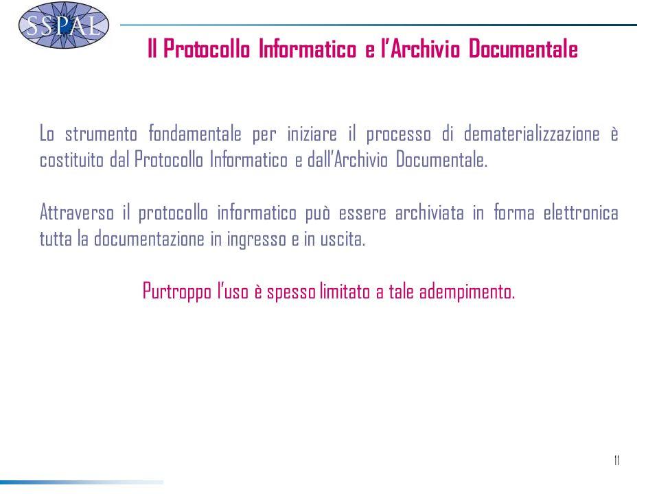 Il Protocollo Informatico e l'Archivio Documentale