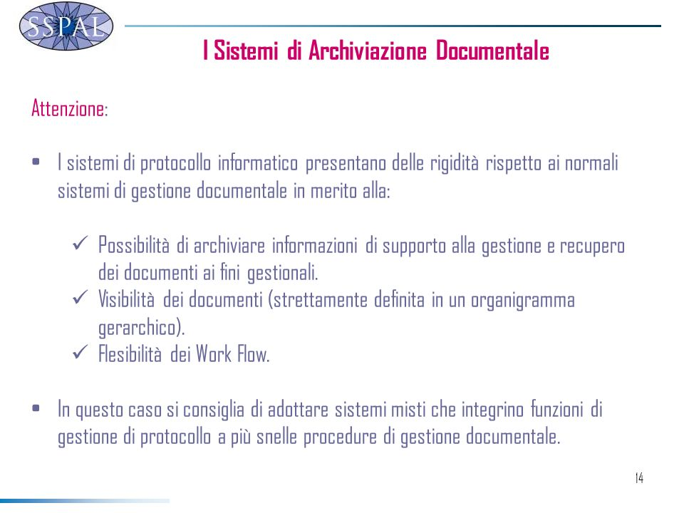 I Sistemi di Archiviazione Documentale