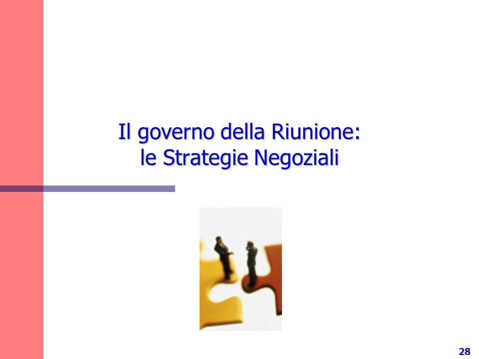 Il governo della Riunione: le Strategie Negoziali