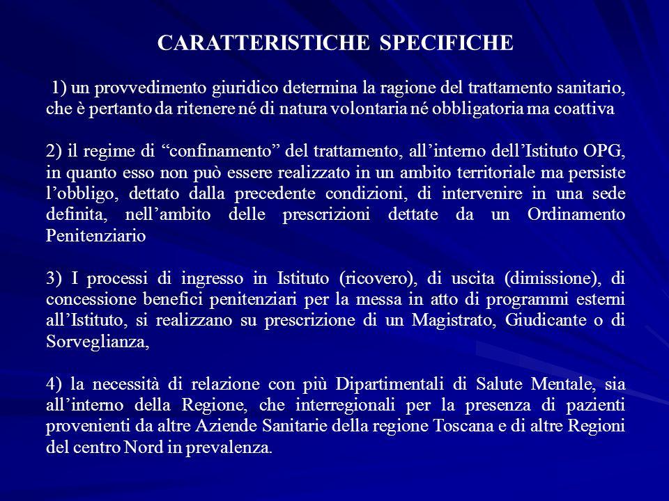 CARATTERISTICHE SPECIFICHE