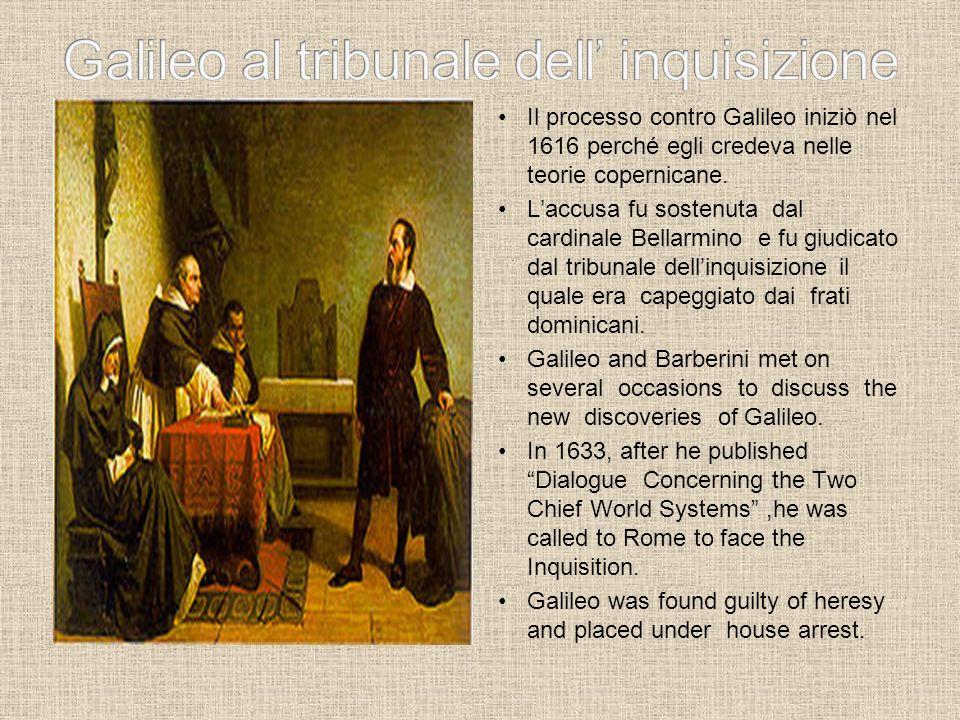 Galileo al tribunale dell' inquisizione