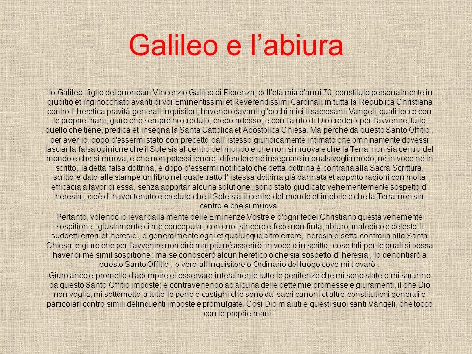 Galileo e l'abiura