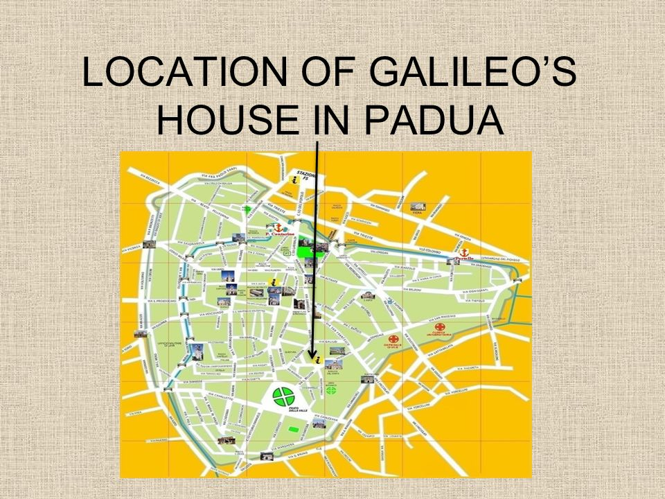 LOCATION OF GALILEO'S HOUSE IN PADUA