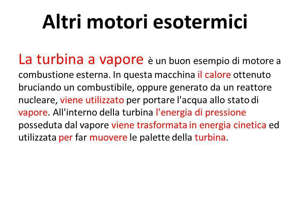 Altri motori esotermici