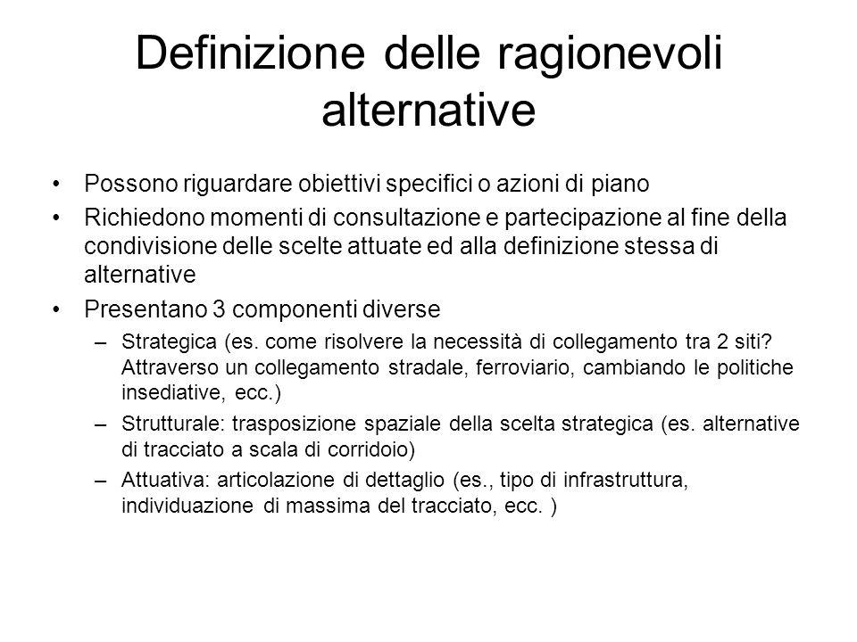 Definizione delle ragionevoli alternative