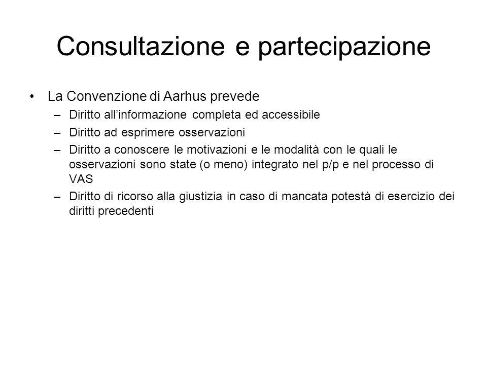 Consultazione e partecipazione