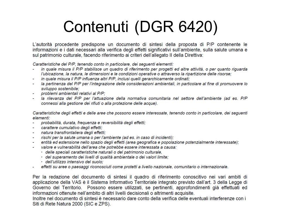 Contenuti (DGR 6420)