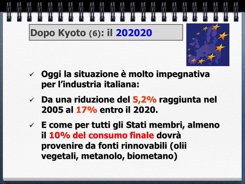 Dopo Kyoto (6): il 202020 Oggi la situazione è molto impegnativa per l'industria italiana: