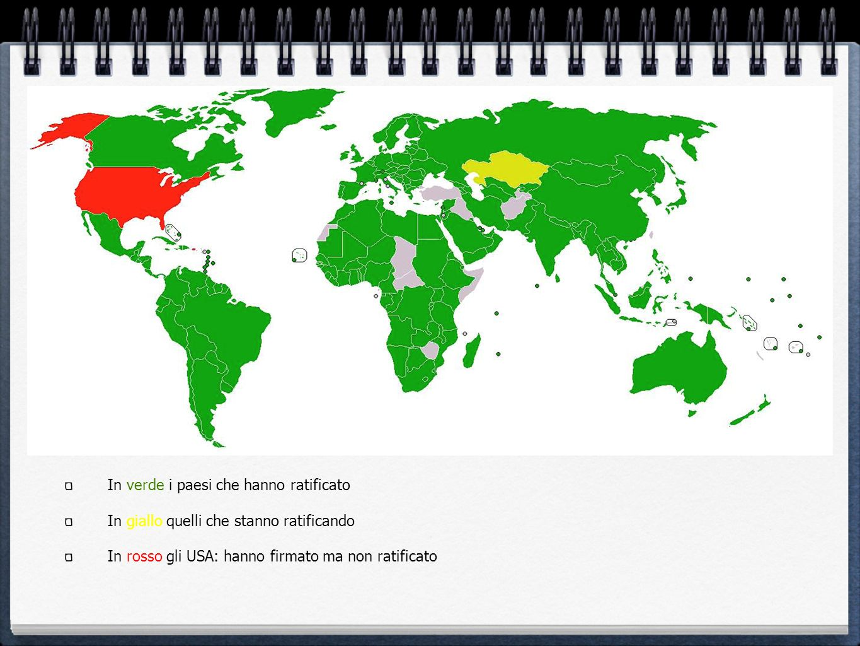 In verde i paesi che hanno ratificato