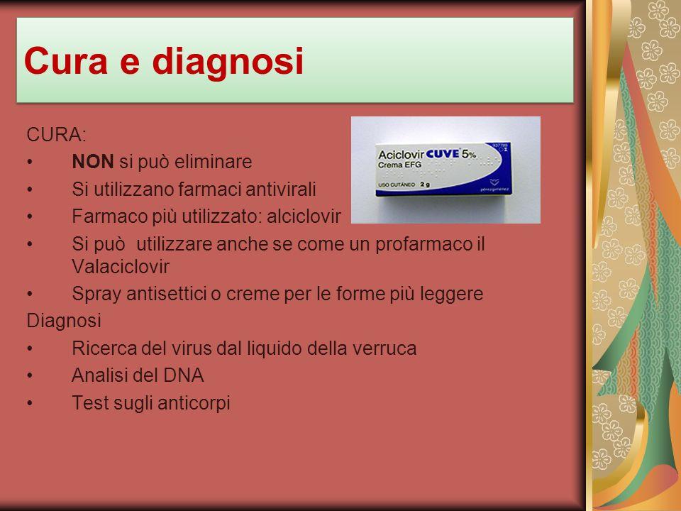 Cura e diagnosi CURA: NON si può eliminare
