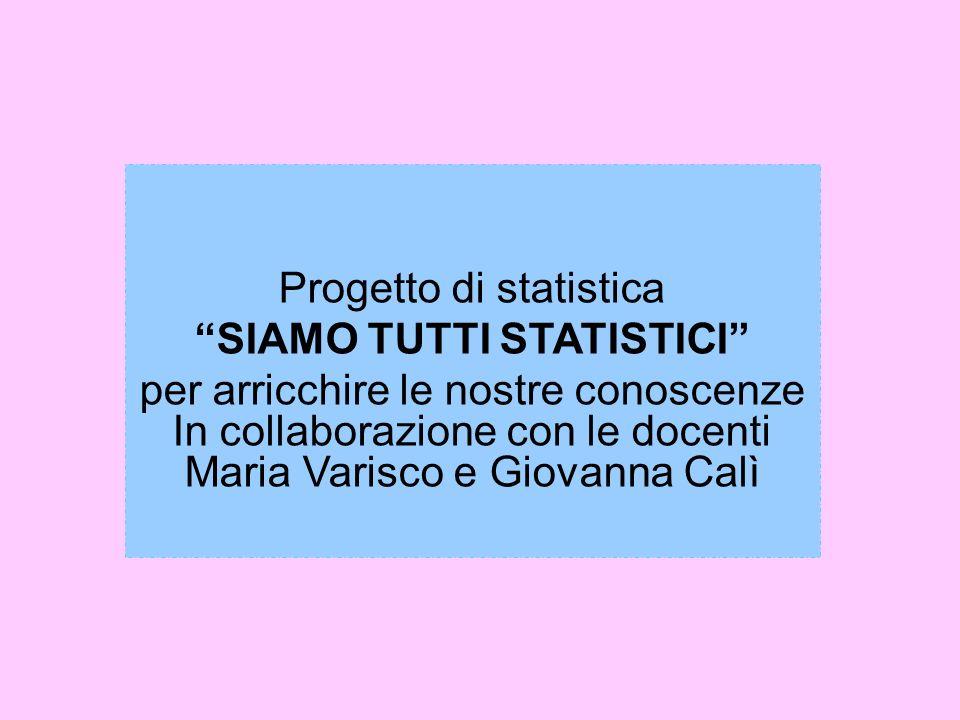 Progetto di statistica SIAMO TUTTI STATISTICI