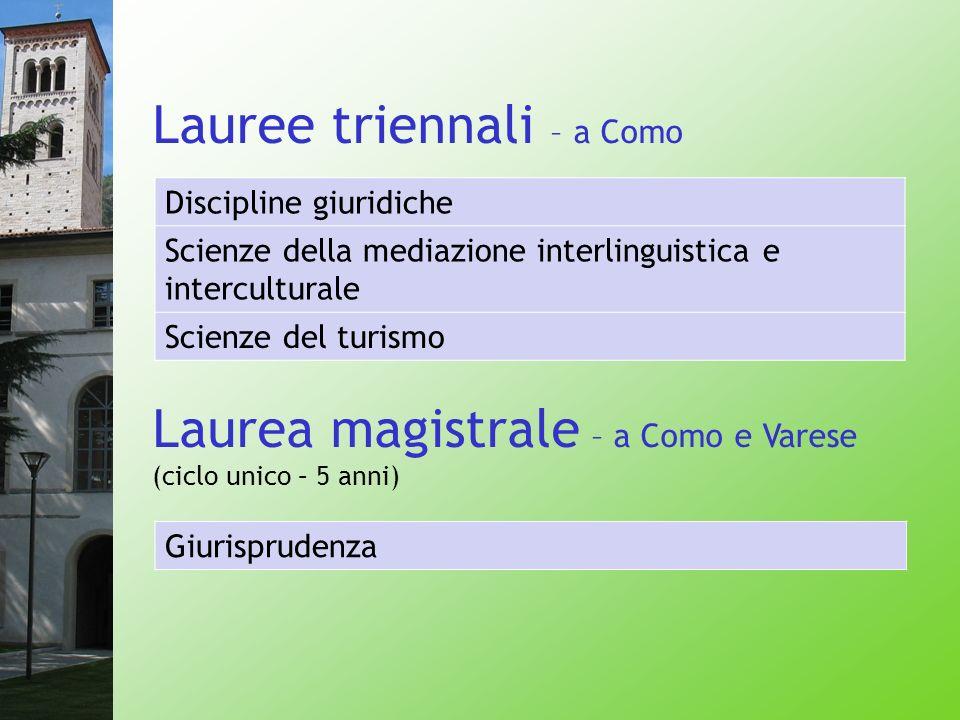 Lauree triennali – a Como