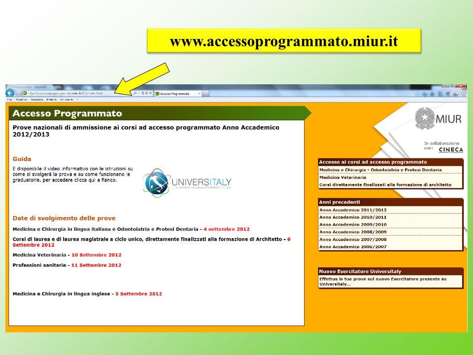 www.accessoprogrammato.miur.it