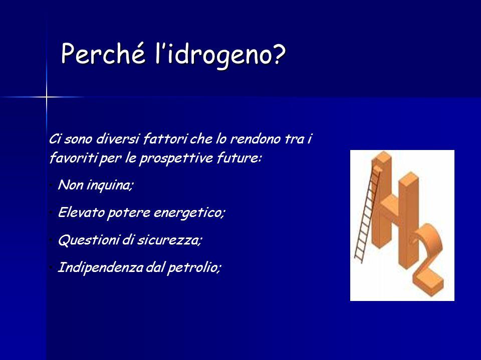 Perché l'idrogeno Ci sono diversi fattori che lo rendono tra i favoriti per le prospettive future: