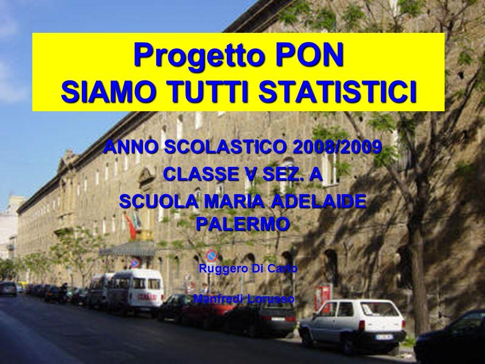 Progetto PON SIAMO TUTTI STATISTICI