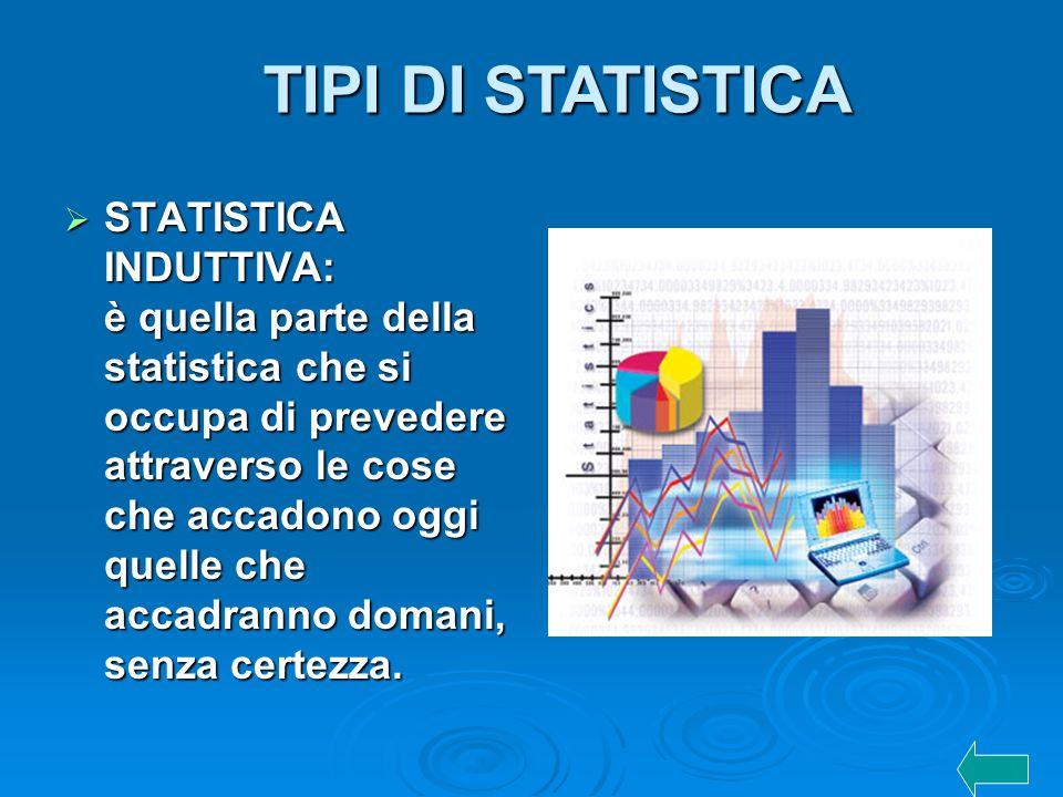 TIPI DI STATISTICA