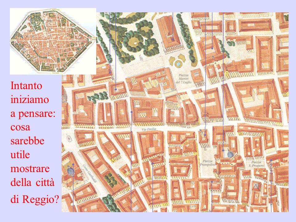 Intanto iniziamo a pensare: cosa sarebbe utile mostrare della città di Reggio