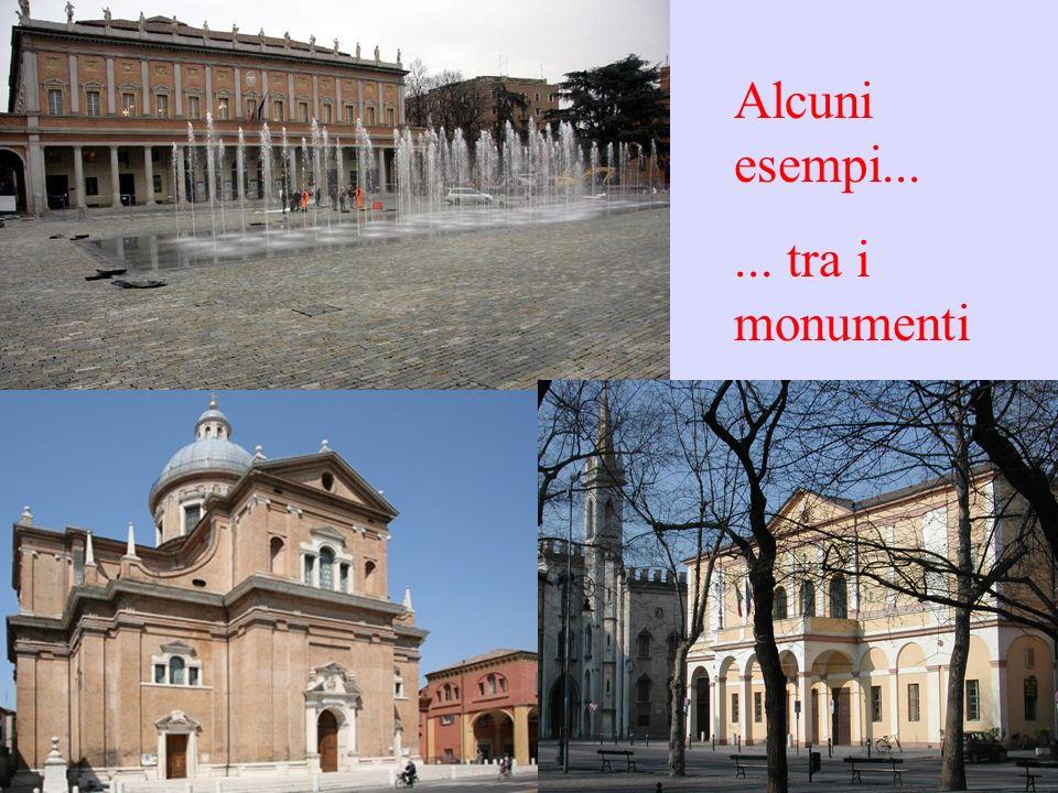 Alcuni esempi... ... tra i monumenti
